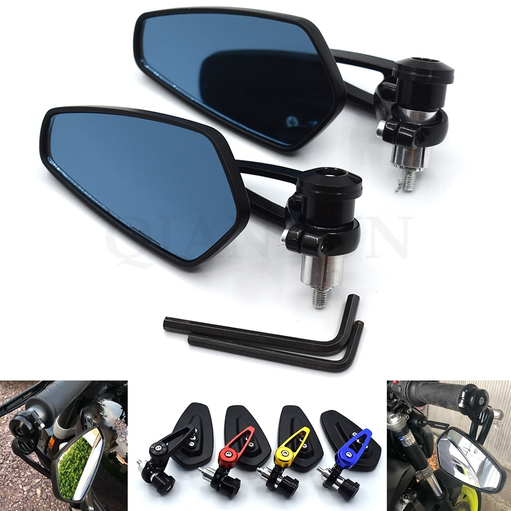 Espejo retrovisor lateral Universal Negro de 7/8 pulgadas 22mm para motocicleta HONDA CB300F CB500F CB500X CB599 CB600 CB750 CB1000R