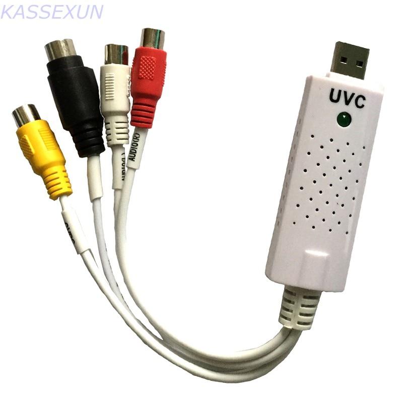 UVC USB tarjeta de captura de vídeo RCA a USB Convertidor para Windows MAC Linux OS envío gratis