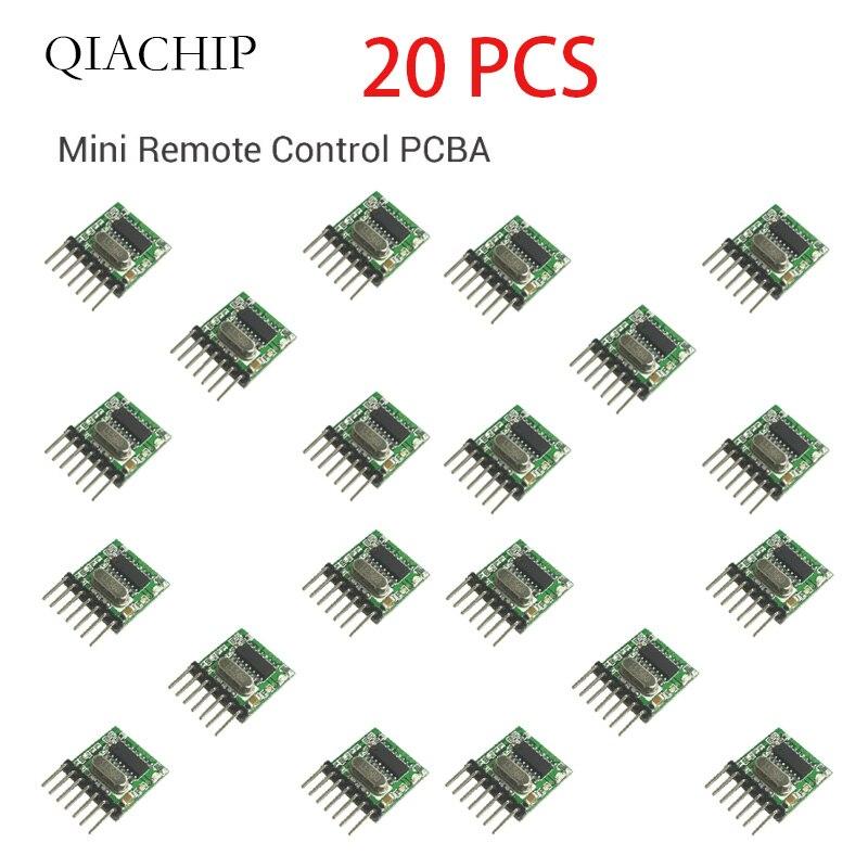 315 Mhz superheterodino RF Módulo transmisor inalámbrico QIACHIP 20 piezas 1527 codificación EV1527 código 3V-24V para control remoto