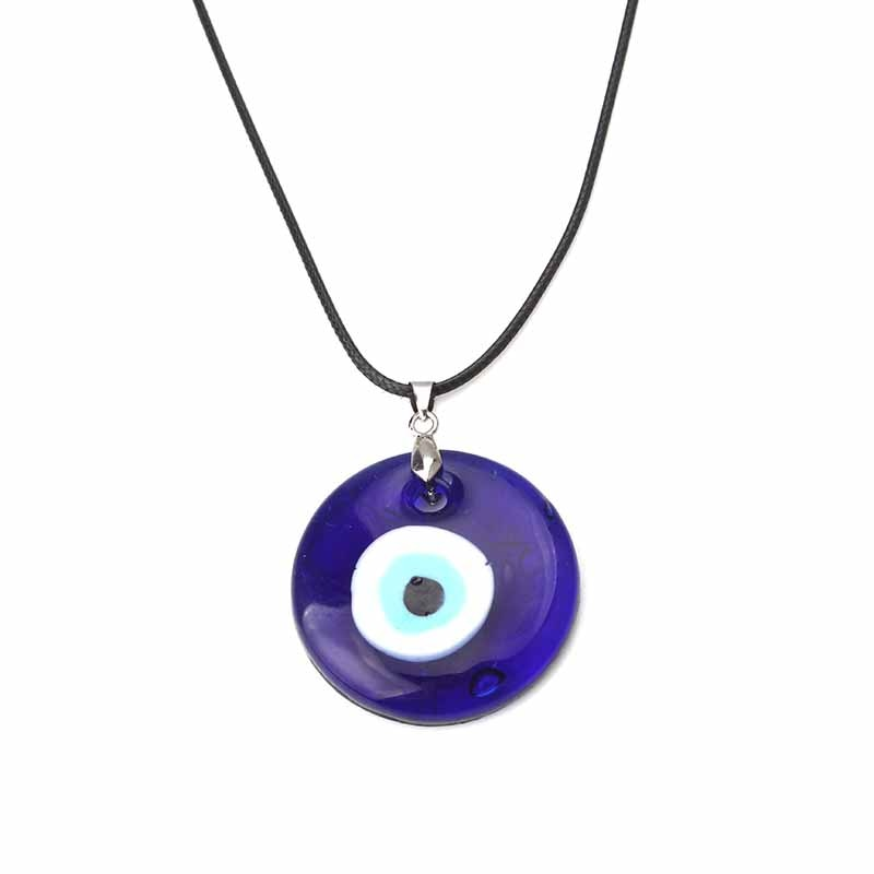 aliexpress.com - 1pc Blue Glass Evil Eye 30mm Evil Eye Charms Necklace Pendants For Women Evil Eye Necklace Jewelry Accessories Findings Making