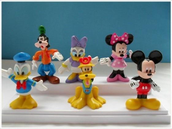 HOT NEW Quality PVC  figure 1set 1set = 6pcs 2.4''-3.1'' Mouse Donald Duck Cartoon Childre's toy