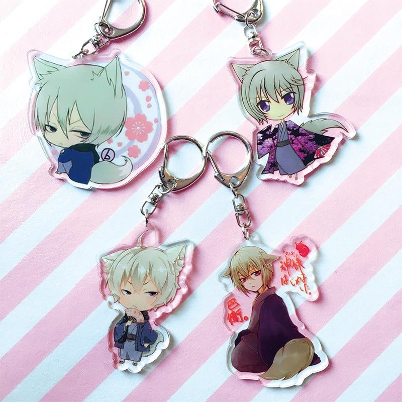 Japanese Anime Kamisama Love Kiss Keyring Cartoon Figure Tomoe Car Key Chain Holder Best Friend Graduation Christmas Gift
