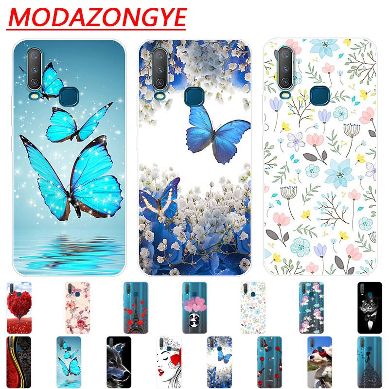 VIVO Y17 Case Silicone Back Protective Cover Cartoon Soft TPU Phone Case For VIVO Y17 1902 Y 17 VIVOY17 Case 6.35 Inch