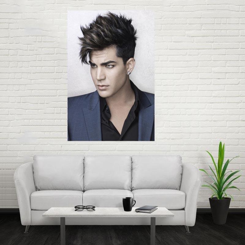 Nice New Adam Lambert Poster Custom Canvas Poster Art Home Decoration Cloth Fabric Wall Poster Print Silk Fabric Print