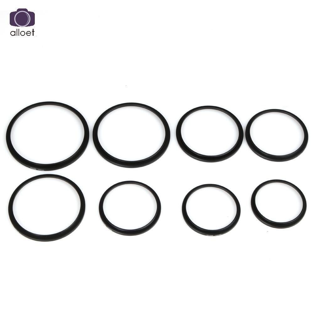 Алюминий 49 мм-82 мм 8 шт. фильтр для объектива камеры повышающие кольца адаптер кольцо набор колец для фотографии