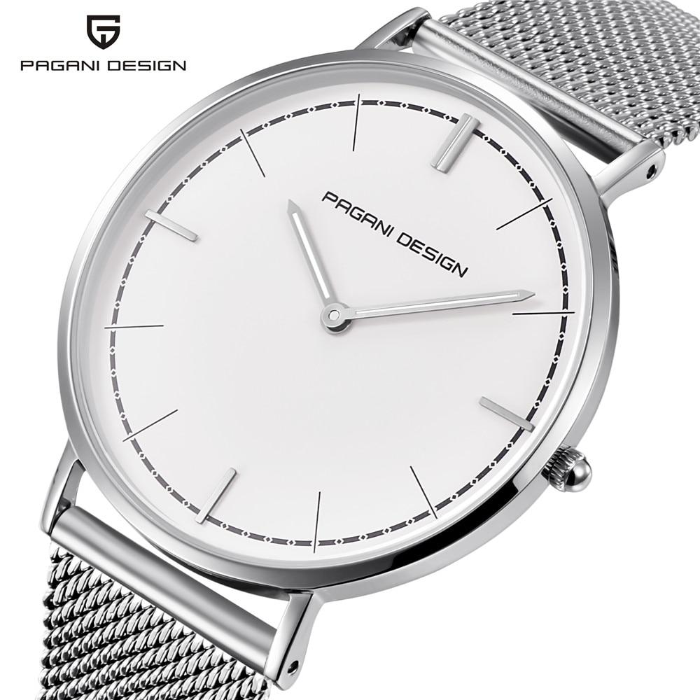 Diseño PAGANI 2019 nuevo estilo Simple hombres de negocios relojes Ultra delgado moda deporte impermeable hombres reloj de pulsera soporte dropshipping
