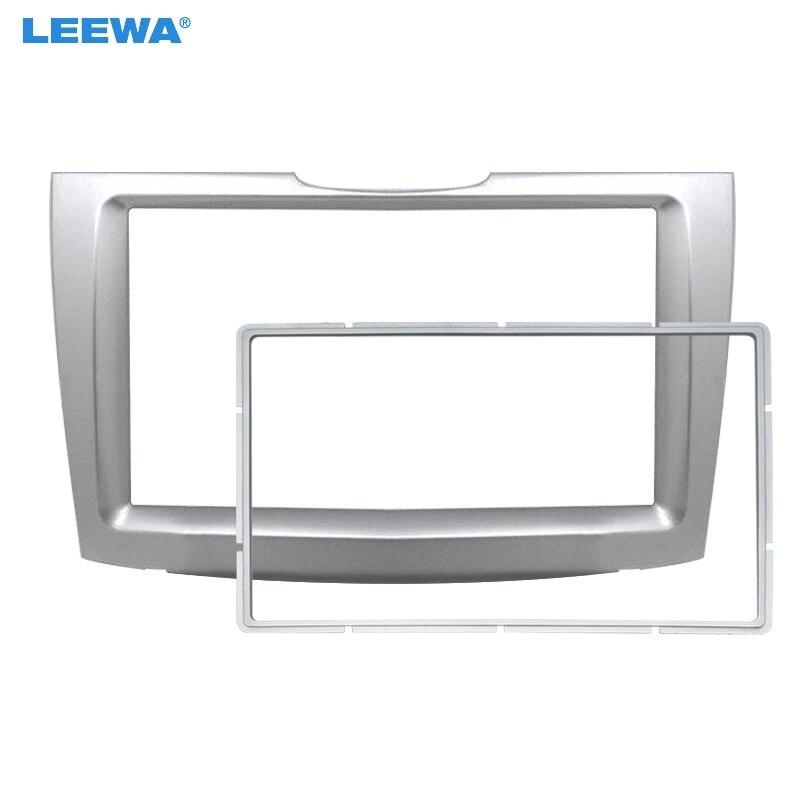 LEEWA Car 2Din Stereo Radio Fascia Frame for Chery G5 Riich 2010+ Audio Dash Face Panel Installation Frame Trim Kit #CA6085