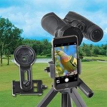 Soporte de teléfono universal para microscopio telescopio adaptador de soporte para IPhone 7 Samsung Galaxy S8 Plus ancho 55 a 102 mm soporte