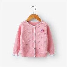 Dulce Amor niñas suéter Rebeca otoño niños algodón punto suéter Tops bebé Niñas Ropa otoño blusa tejida