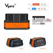 Vgate iCar 2 ELM327 Wifi/Bluetooth OBD OBDII OBD2 Tarayıcı araç Teşhis Aracı ELM 327 wi fi obdii Kod okuyucu otomotiv tarayıcı