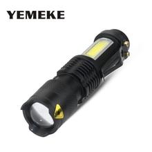 Lampe torche Portable à Mini Zoom, COB + XML Q5 à usage domestique avec batterie AA/14500 batterie 2000Lm
