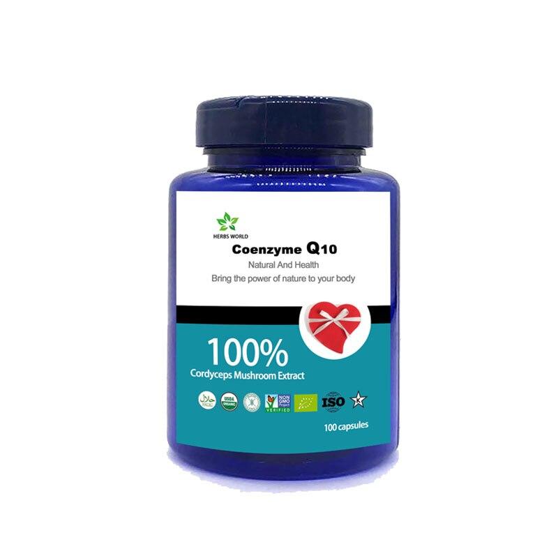 Natural Coenzyme Q10 100pcs/bottle 100% Coenzyme Q10