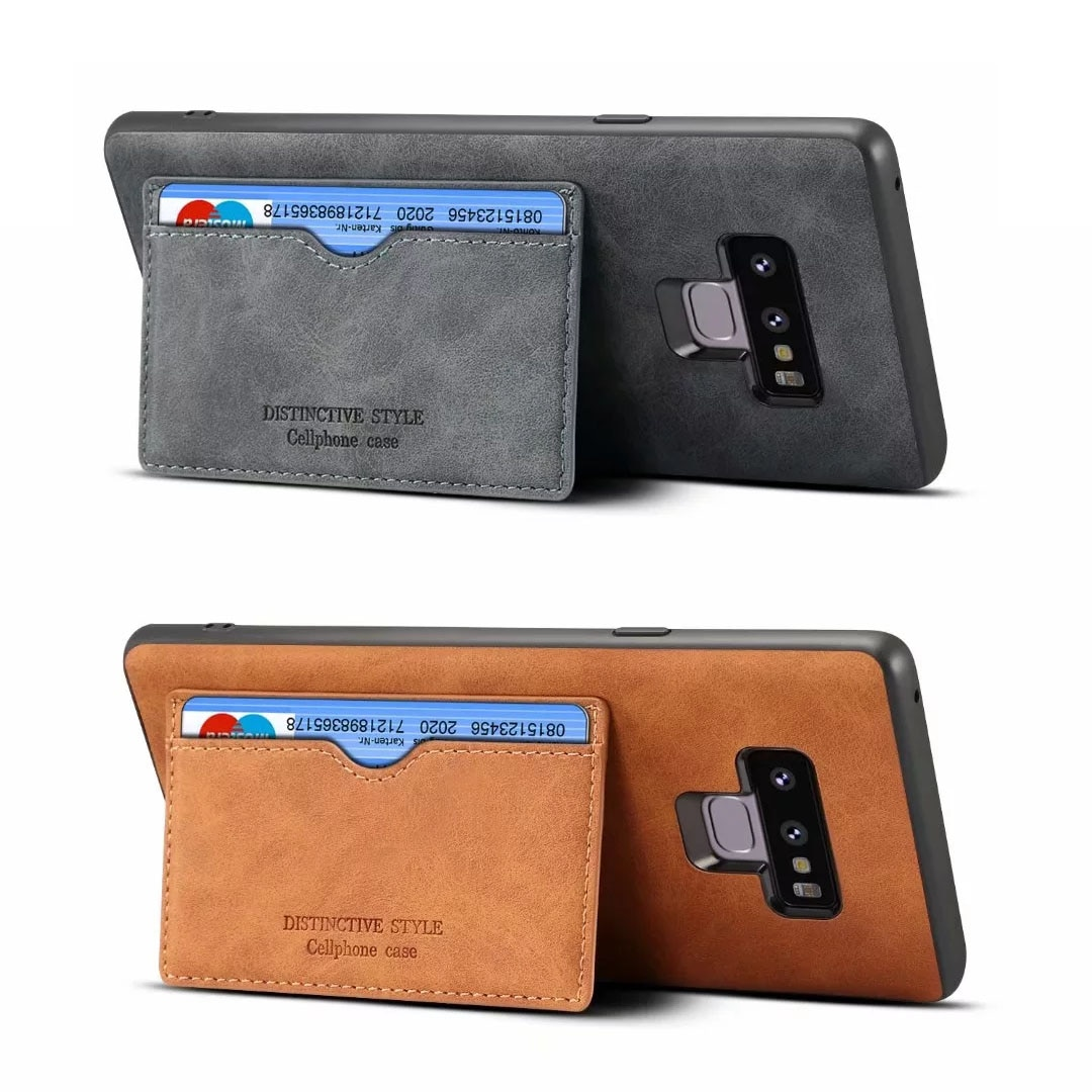 Luxo Genuíno Caso De Couro Real Para Samsung Galaxy Note9 Retro Do Vintage de Volta Casos Capa Protetora Para Samsung Nota Caso 9