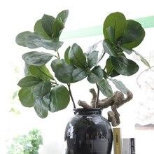 Feuilles artificielles de décoration de noël   Grandes branches darbre, Ficus lyrata, décoration de noël, fausses fleurs, feuille artificielle