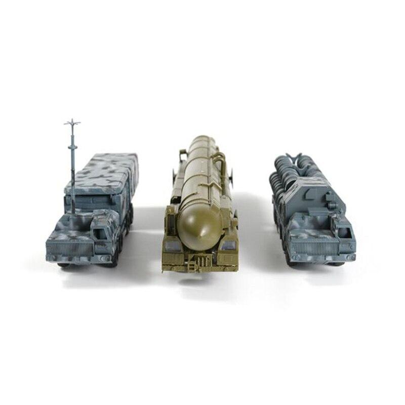 Modelo 4D 172, ensamblaje militar fundido a presión, Radar de camión + modelo lanzador de misiles + Aspen, juego de iniciador de misiles intercontinentales, juguete para bebé A025