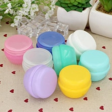 5 teile/los Mini Leere Glas Töpfe Kosmetische Make-Up Innere Deckel Gesicht Creme Lip Balm Container Mein Nachfüllbare Flaschen Großhandel