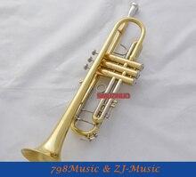 Corne de trompette en laque dor b-flat Monel Valve avec étui