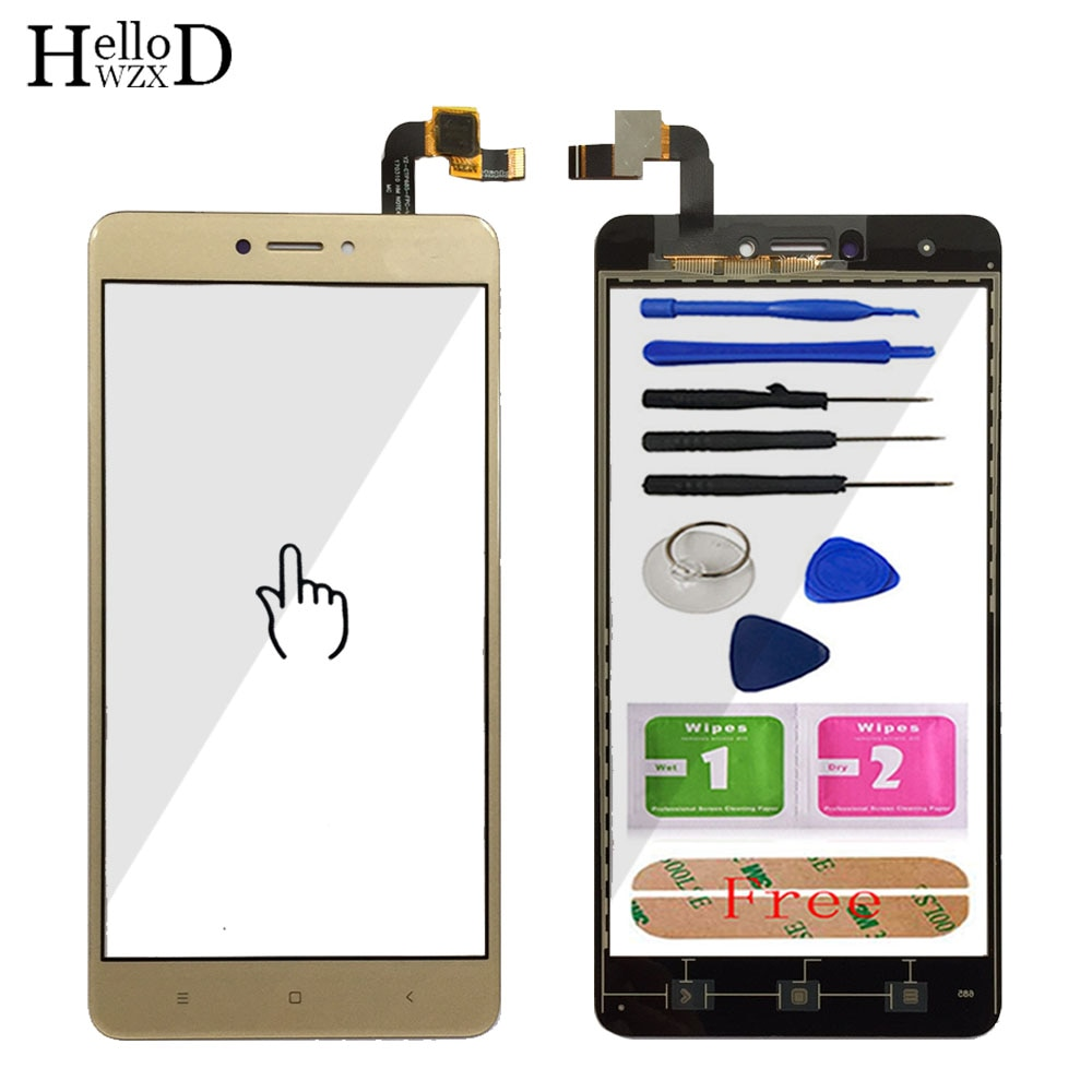 5.5'' Phone Touch Screen Glass For Xiaomi Redmi Note 4X Digitizer Panel Front Glass Touch Screen TouchScreen Sensor Adhesive недорого