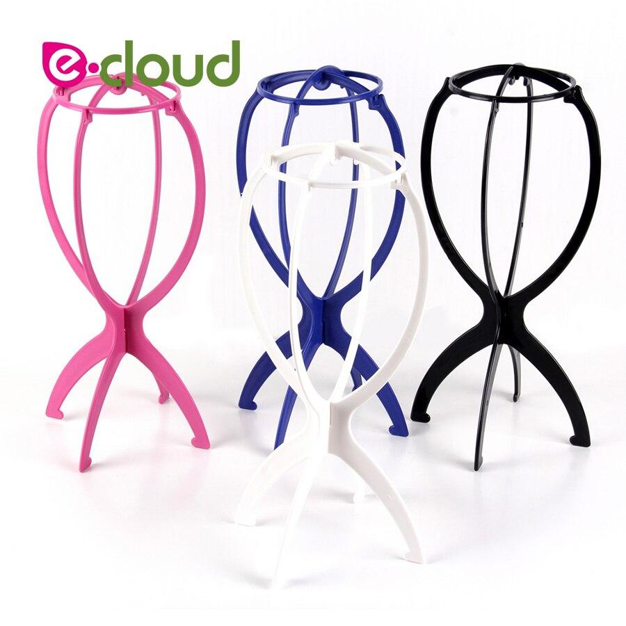 1 unidad de soportes para peluca ajustables coloridos de plástico, soporte para cabeza de peluca, soporte portátil para peluca plegable