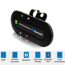 Bluetooth 4,1 kit de manos libres para coche visera Clip Adaptador de Audio receptor inalámbrico altavoz multipunto estéreo para coche Mp3 jugador