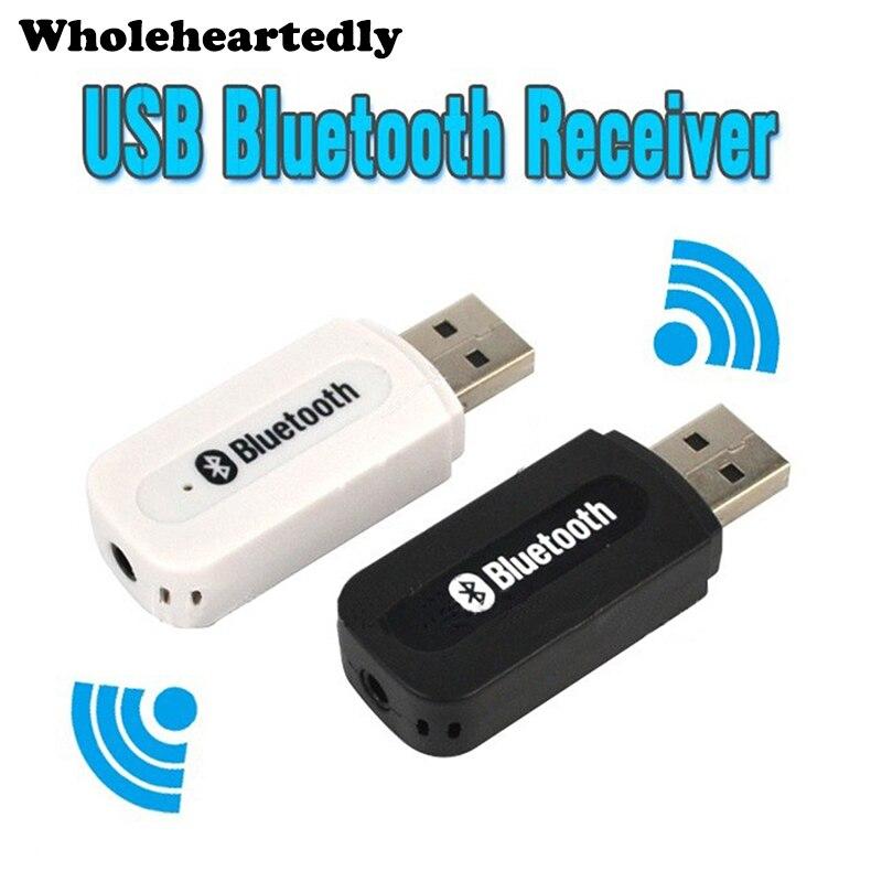 USB Bluetooth A2DP adaptador Dongle Bluetooth música Audio receptor inalámbrico estéreo 3,5mm Jack para coche Aux Android/IOS teléfono móvil
