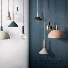 Iskandinav basit bar asılı lamba renkli Kolye Işık restoran, yatak odası, başucu ışıkları, modern sanat ve yaratıcı aydınlatma