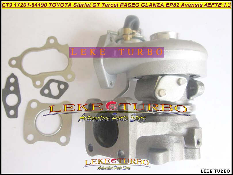 CT9 17201-64190 турбокомпрессор турбо для TOYOTA PASEO TERCEL GLANZA Avensis Starlet GT EP82 EP85 EP91 1997-4EFE 4 Ette 4E-FTE 1.3L
