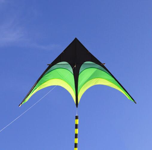 free shipping high quality large delta kites tails with handle outdoor toys for kids kites nylon rip
