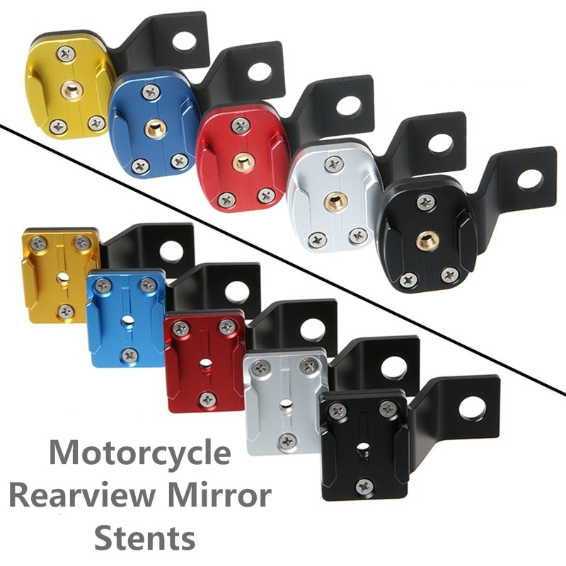 Зеркало заднего вида для мотоцикла, держатель из алюминиевого сплава с фиксированным кронштейном для Gopro Hero 3 4 5 6 7 Xiaomi Yi SJCAM SJ4000 SJ8 EKEN H9