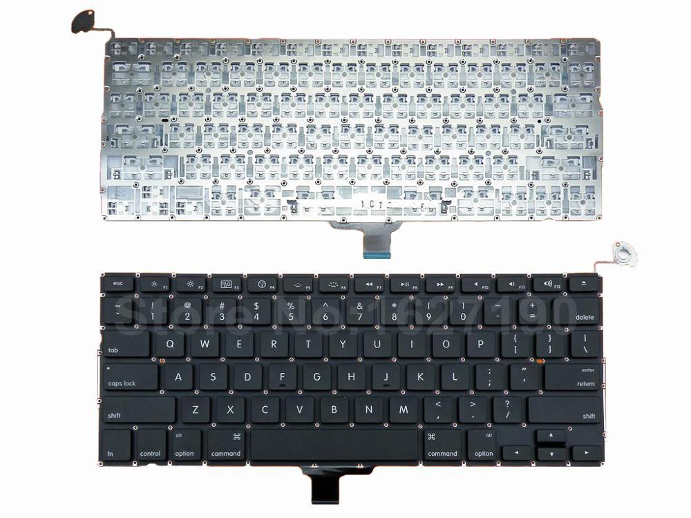 لوحة مفاتيح أمريكية لجهاز Apple Macbook Pro A1278 MB467 ، 13.3 بوصة ، لوحة مفاتيح بإضاءة خلفية جديدة للكمبيوتر المحمول مع لوحة مفاتيح