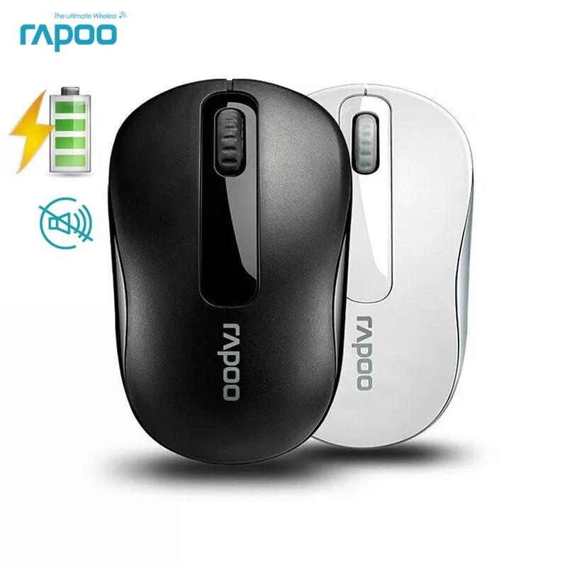 Оригинальная Беспроводная оптическая мышь Rapoo 2,4G, надежная мини-мышь 1000 точек/дюйм для компьютера, ноутбука, настольных игр, Бесплатная мышь