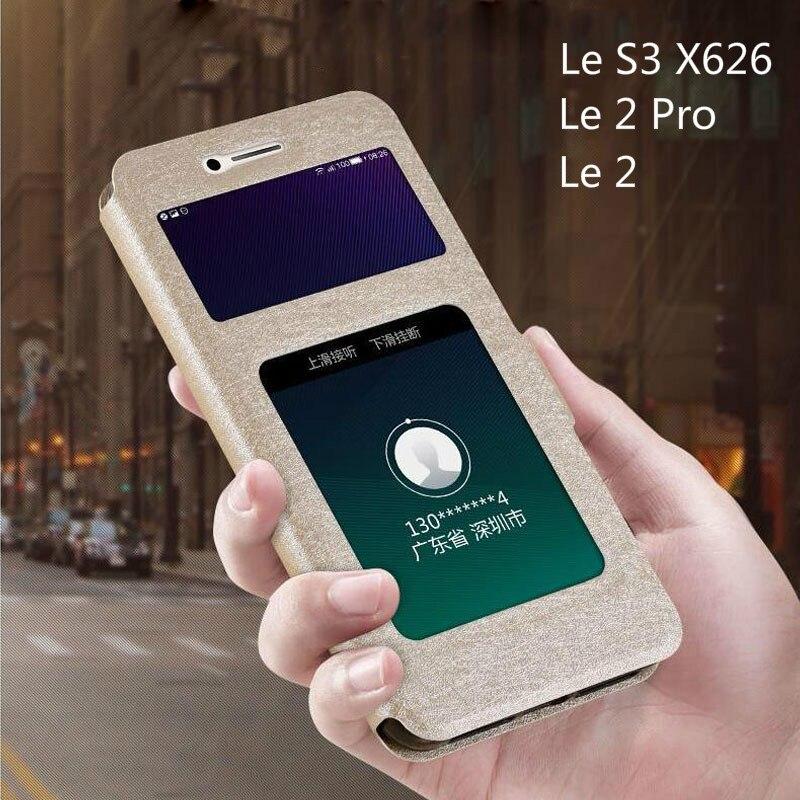 Flip Cover for Leeco Le S3 X620 Case Luxury View Window Leather Case for Letv Le 2 Pro X527 X520 X626 Le2 Pro X522 X20 Phone Bag