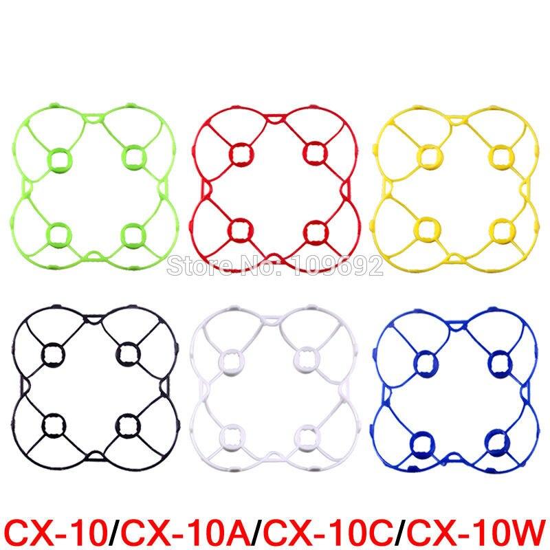 6 צבעים CX-10 CX-10A CX-10C CX-10W מגן CX10 CX10A CX10C CX10W Drone RC Quadcopter חלקי חילוף מסגרת הגנת