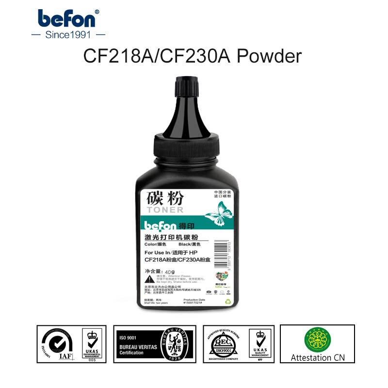 Befon schwarz Tonerpulver für CF218A CF230A Tonerkartusche 40g