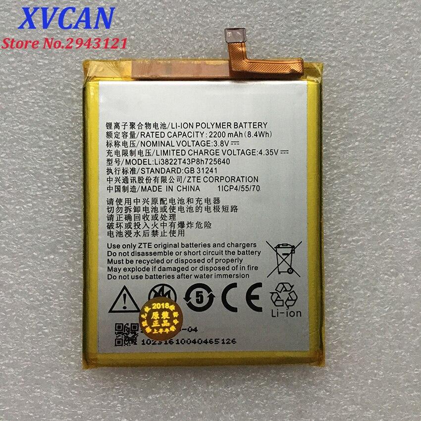 High Quality Li3822T43P8h725640 2200mAH Original Phone Battery For ZTE Blade A510 BA510 Mobile Phone