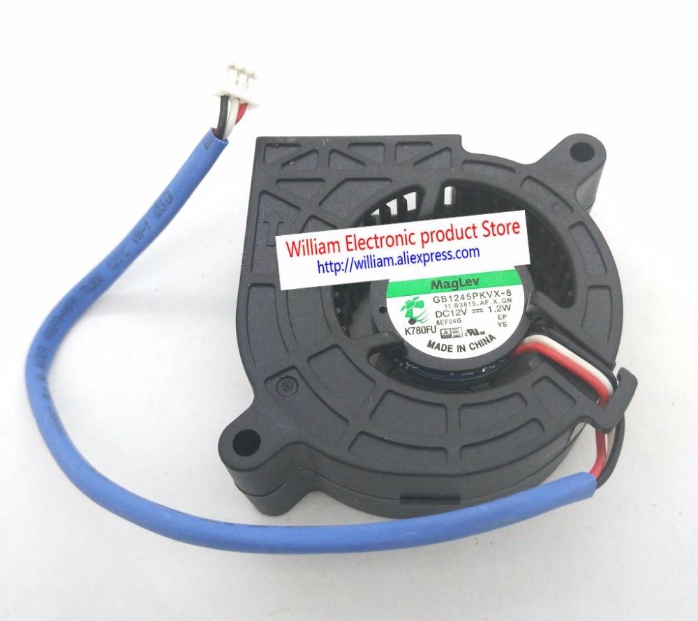 Новый оригинальный GB1245PKVX-8 AF DC12V 1,2 W Скорость сигнала 3 линии 45x20 мм для Вентилятор проектора Вентилятор охлаждения