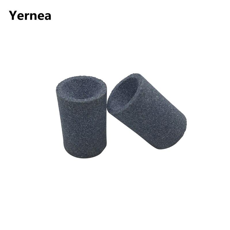 Yernea 6 unids/set alta calidad Millstone portátil de dardo de piedra accesorios de acero punta punto piedra de afilar
