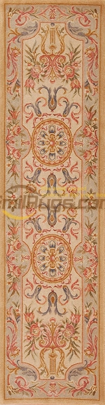 Alfombra de área de Savonnerie francesa de Palacio, alfombra de lujo redonda de arte de pared bordada, Alfombra de corredor, alfombras tejidas de lana