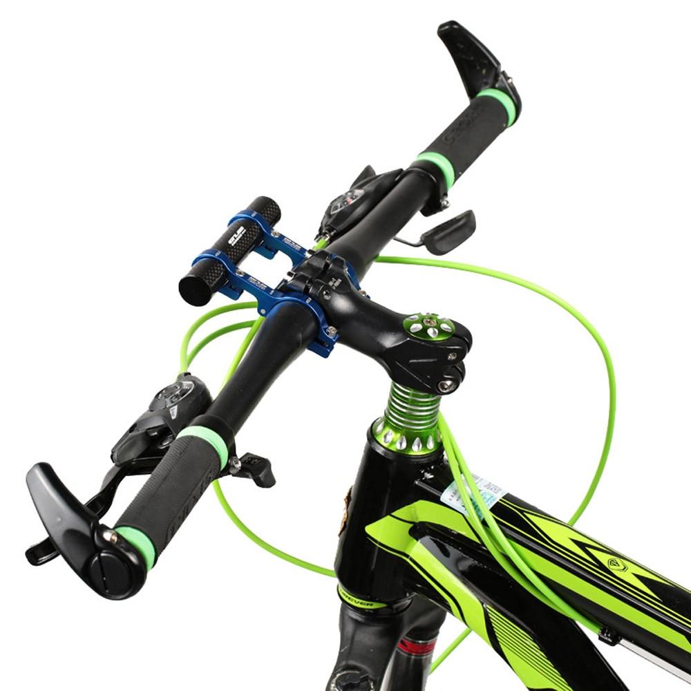GUB 31,8 MM luz bicicleta velocímetro doble manillar extensión montaje fibra de carbono soporte extensor