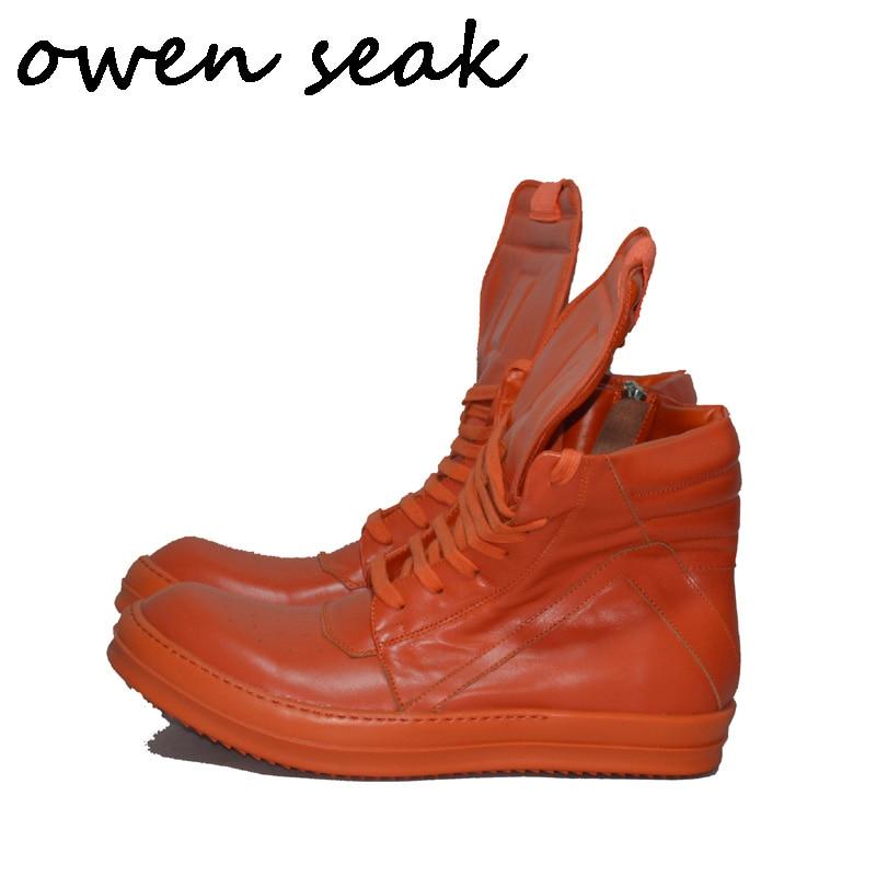 182 Seak-حذاء رياضي من الجلد الأصلي للرجال ، حذاء كاجوال فاخر بسحاب ، مقاس كبير
