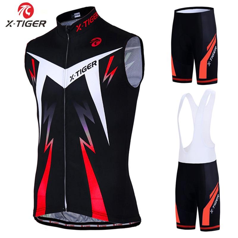 X-tiger sans manches cyclisme gilets Maillot ensemble vtt vélo vêtements Maillot Ropa Ciclismo Hombre course vêtements de vélo vêtements 2020