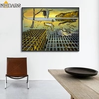 canvas print painting poster the disintegration of the persistence of memory by salvador dali wall pictures for living room