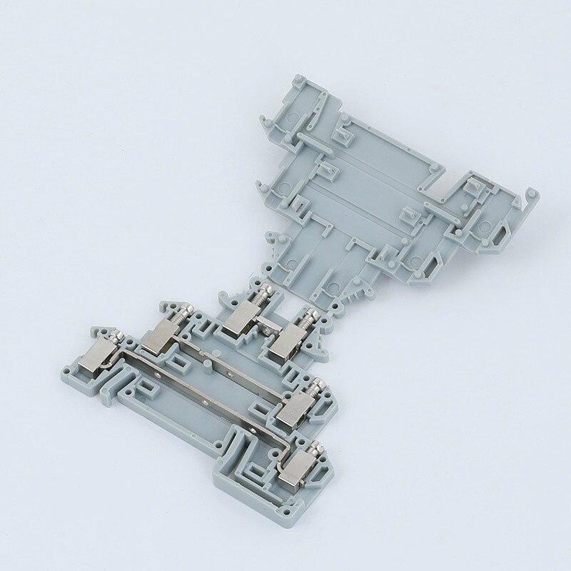 10 Uds DIKD 1,5 Phonex tipo Din Rail cableado de 3 niveles conector rápido Conductor Delgado Modular tornillo Terminal bloques DIKD-1.5