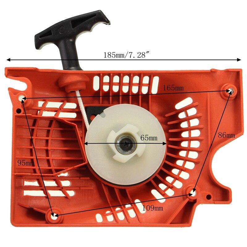 Реактивный ручной стартер для китайский бензопилы 4500 5200 5800 45 52cc 58cc Raptor красный газон стартер для косилки
