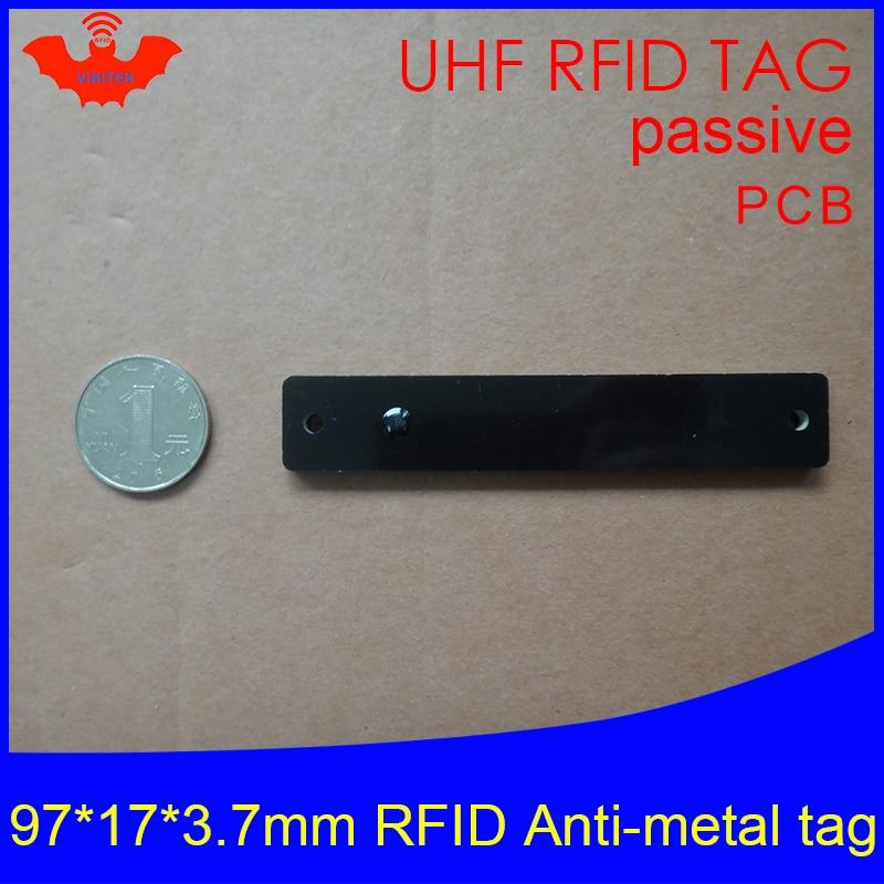 UHF RFID metal tag 915mhz 868mhz Alien Higgs3 EPCC1G2 6C 97*17*3.7mm slim goods shelf PCB smart card passive RFID tags