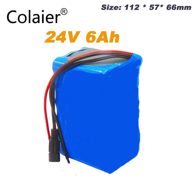 Bateria recarregável da bateria 25.2 v 18650 mah do bloco 6000 v da bateria de colaier 24 v 6ah 6s3p para o navegador de gps/carro do golfe/bicicleta elétrica