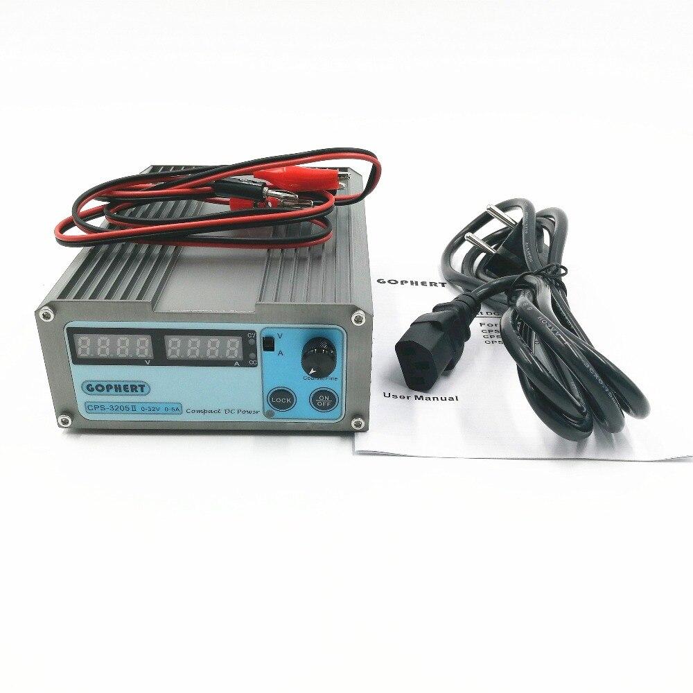 110Vac/220Vac CPS-3205 3205II мини Регулируемый Цифровой DC источник питания OVP/OCP/OTP 0.001A 0,01 V 160 W