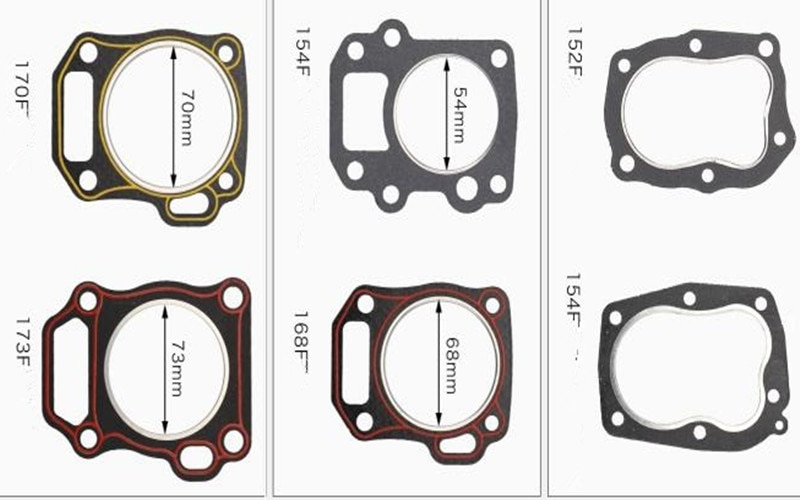 10pcs Cylinder Head Gasket for Honda 177F 190F 192F 170F 173F 152F 154F Chinese Gasoline Engine Generator Water Pump Parts