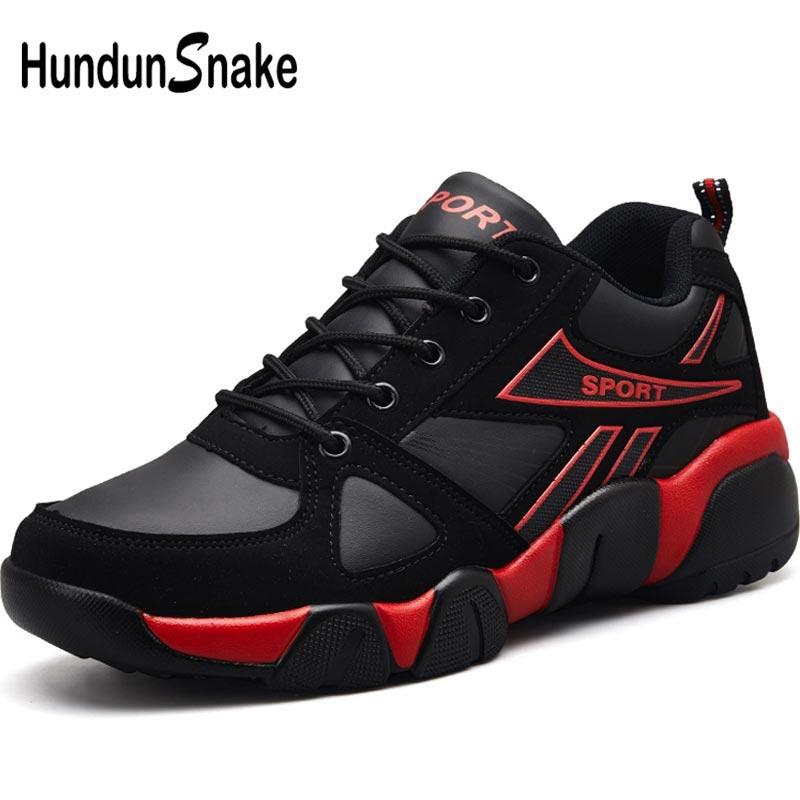 Hundunsnake Pu Leather Running Shoes Mens Sneakers Women Sport Shoes Male Sports Summer Krassovki Men Black Basket Homme A-177
