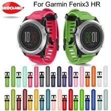 Bracelet de rechange en Silicone 19 couleurs Horloge Bandjes Bracelet + Bracelet de montre outil Saat Kordonu Silikon pour Garmin Fenix 3 Hr